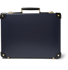 Globe-Trotter Spectre Slim Leather-Trimmed Attaché Case