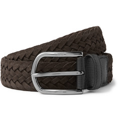 Tod's - 3.5cm Woven Suede Belt