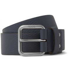 Tod's 3.5cm Navy Full-Grain Leather Belt