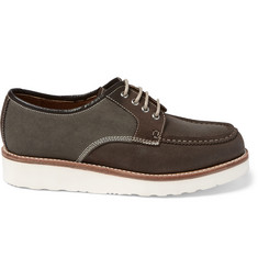 Grenson Ricky Canvas and Leather Derby Shoes