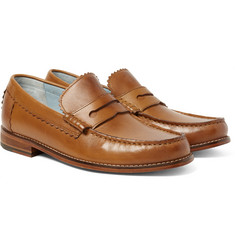 Grenson - Ashley Burnished-Leather Penny Loafers