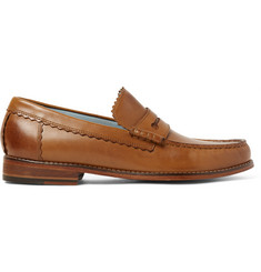 Grenson Ashley Burnished-Leather Penny Loafers