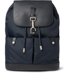 Mulberry Marty Full-Grain Leather and Nylon Backpack