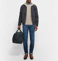 Mulberry Marty Medium Leather-Trimmed Canvas Holdall
