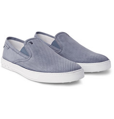 Tod's - Perforated Nubuck Slip-On Sneakers