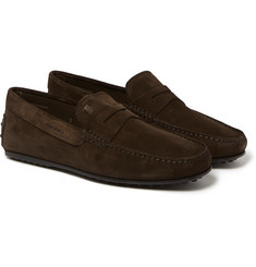 Tod's - City Gommino Suede Loafers