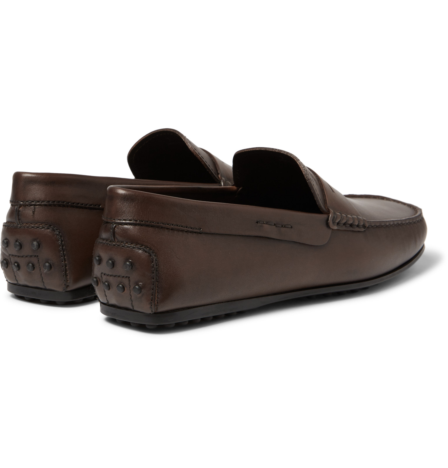 fcf4eecb3d4 Tod s - City Gommino Leather Penny Loafers