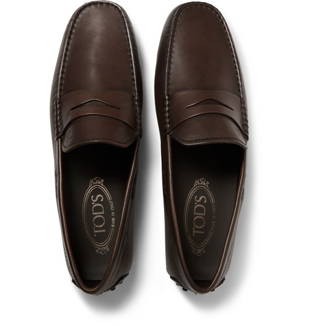 9c4b6c8bfd0 Tod s City Gommino Leather Penny Loafers - Brown