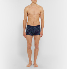 Derek Rose Polka-Dot Stretch-Cotton Jersey Boxer Briefs