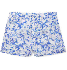 Derek Rose Printed Cotton Boxer Shorts