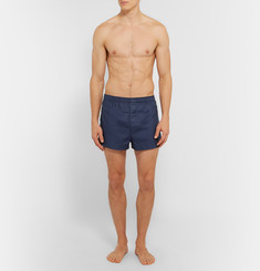 Derek Rose Lombard Cotton-Jacquard Boxer Shorts