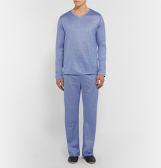 Derek Rose - Bari Houndstooth Cotton Pyjama Set