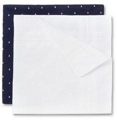 Derek Rose Set of Two Cotton Handkerchiefs