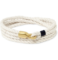 Miansai Trice Rope and Gold-Plated Hook Wrap Bracelet