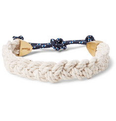 Miansai Nantucket Rope and Brushed-Brass Bracelet