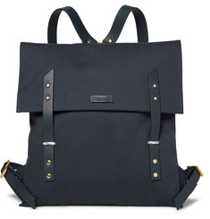 Miansai Leather-Trimmed Canvas Backpack