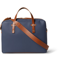 Miansai Leather-Trimmed Coated-Canvas Briefcase