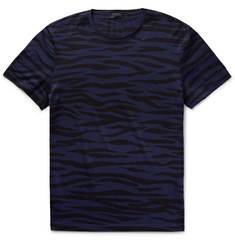 Burberry Prorsum Slim-Fit Zebra-Print Cotton-Jersey T-Shirt