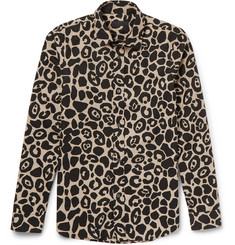 Burberry - Prorsum Slim-Fit Leopard-Print Cotton-Poplin Shirt