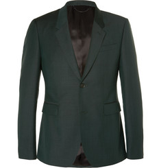 Burberry Prorsum Dark-Green Slim-Fit Mohair and Wool-Blend Suit Jacket