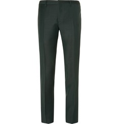 Burberry Prorsum - Dark-Green Slim-Fit Mohair And Wool-Blend Suit Trousers