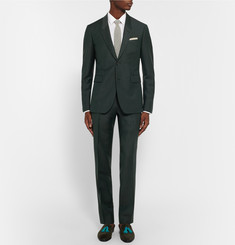 Burberry Prorsum Dark-Green Slim-Fit Mohair And Wool-Blend Suit Trousers