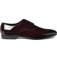 Burberry Prorsum Two-Tone Patent-Leather Derby Shoes