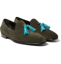 Burberry - Prorsum Tasselled Suede Loafers