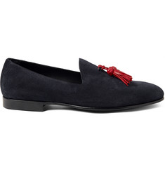 Burberry Prorsum Tasseled Suede Loafers