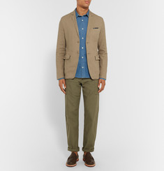 Aspesi Sand Slim-Fit Unstructured Linen-Blend Blazer