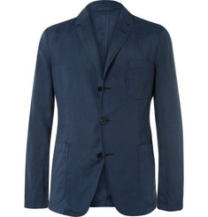 Aspesi - Storm-Blue Slim-Fit Unstructured Linen Blazer