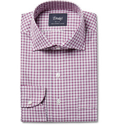 Drake's - Checked Cotton-Poplin Shirt