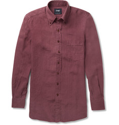 Drake's Button-Down Collar Linen Shirt