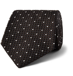 Drake's - Dot-Embroidered Silk Tie