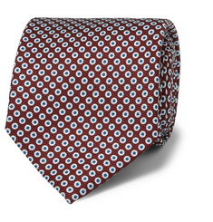 Drake's - Patterned Silk Tie