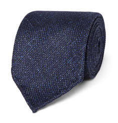 Drake's Slub Wool, Silk and Linen-Blend Tie