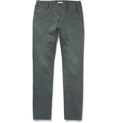 Tomas Maier - Slim-Fit Washed Stretch-Cotton Chinos