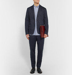 Tomas Maier - Navy Tapered Stretch-Cotton Suit Trousers