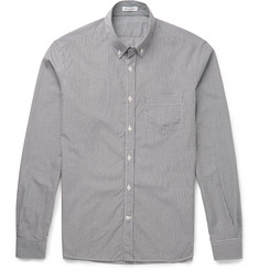 Tomas Maier Slim-Fit Button-Down Collar Gingham Cotton Shirt