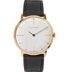 Sekford Type 1A Gold and Cordovan Leather Watch