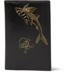 Alexander McQueen Printed Bifold Leather Wallet