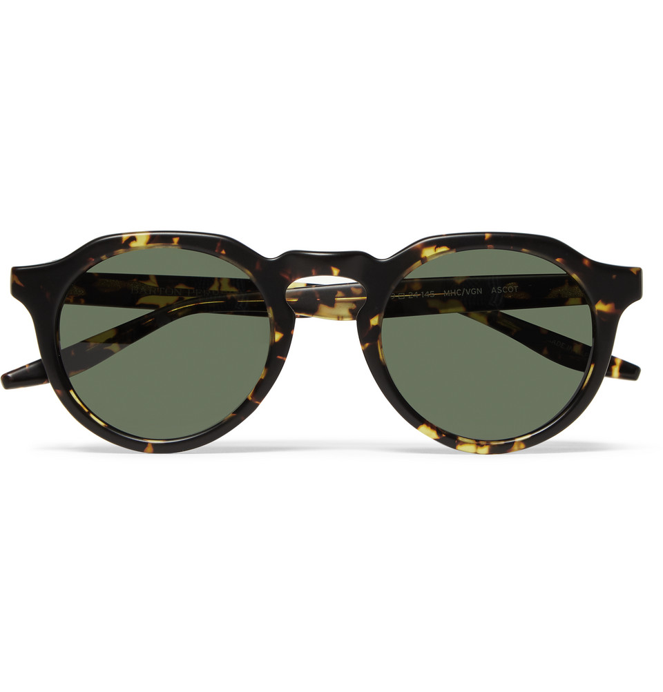 Ascot Round Frame Tortoiseshell Acetate Sunglasses Brown