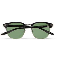 Barton Perreira Coxsone Round-Frame Acetate and Metal Sunglasses