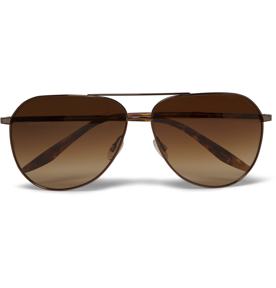 Hawkeye Tortoiseshell Acetate and Metal Sunglasses Brown