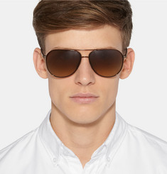 Barton Perreira Hawkeye Aviator-Style Acetate and Metal Sunglasses