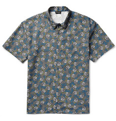 Jil Sander Slim-Fit Printed Cotton-Poplin Shirt
