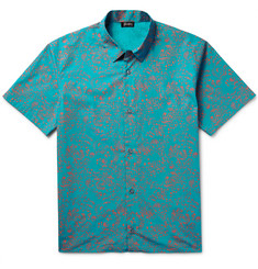 Jil Sander - Slim-Fit Printed Cotton-Poplin Shirt