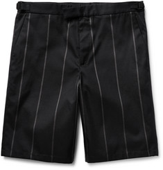 Jil Sander Gennaro Striped Cotton-Blend Twill Shorts