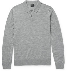 Jil Sander Slim-Fit Knitted Wool Polo Shirt