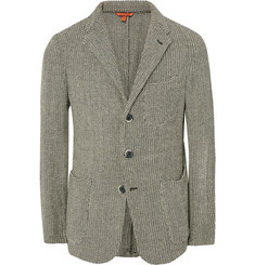Barena - Slim-Fit Mélange Knitted Cotton Blazer